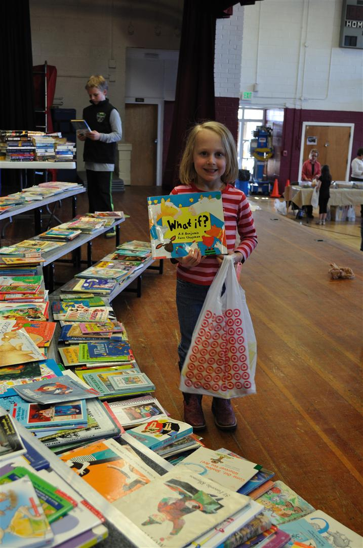 Lindsey Schraeder at the Literacy Carnival at South Routt Elementary School. Submitted by: Audrey Walker