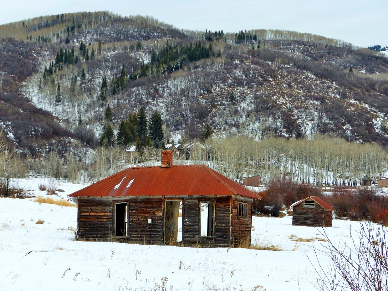 """Some abandoned cabins in Strawberry Park, right on the edge of Steamboat."" Submitted by Shannon Lukens."