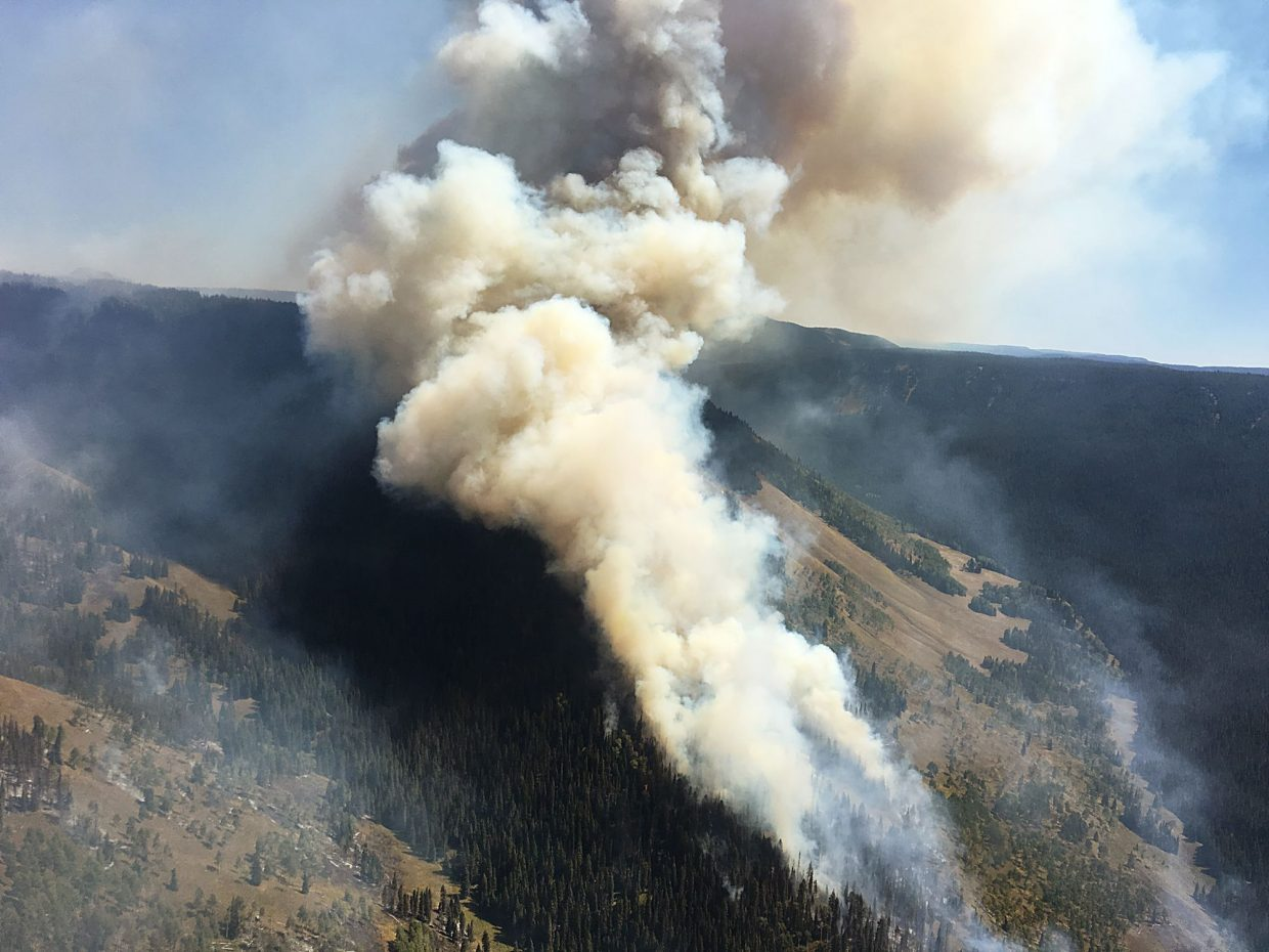 The Lost Solar Fire in the western Flat Tops Wilderness has grown to about 4,500 acres over the past month.