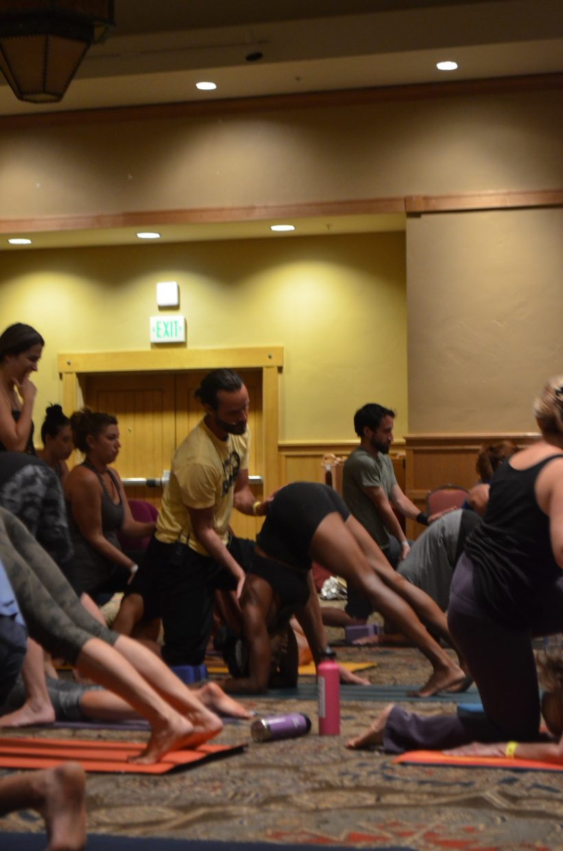 """Renowned instructor Wade Gotwals (certified in Ashtanga/Vinyasa, Thai and Intuitive Massage, and Touch for Health) leads a """"put Massage into your yoga"""" class at the Steamboat Movement Fest this weekend."""