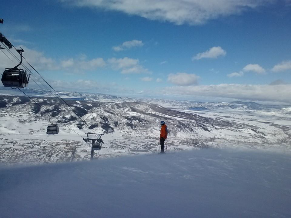Windy but beautiful first day of March! At Steamboat Ski Area. Submitted by Traci Smith.