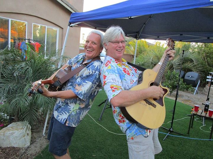 Trop Rockers Mark Mulligan and Sunny Jim White bring songs of tropical paradises to the Yampa Valley.