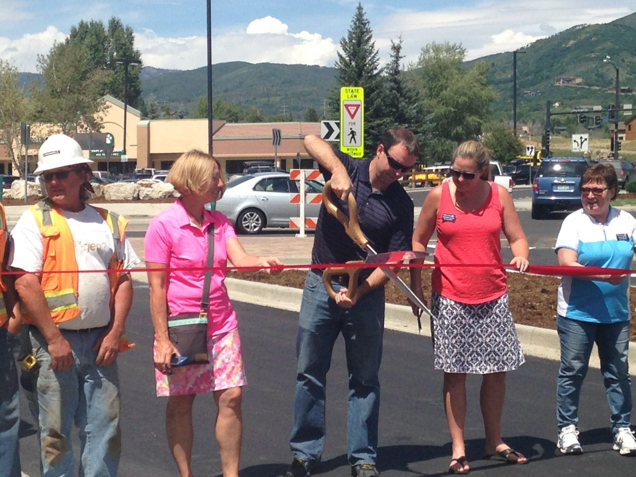 Ribbon cutting at Central Park. Submitted by Mary Randolph.