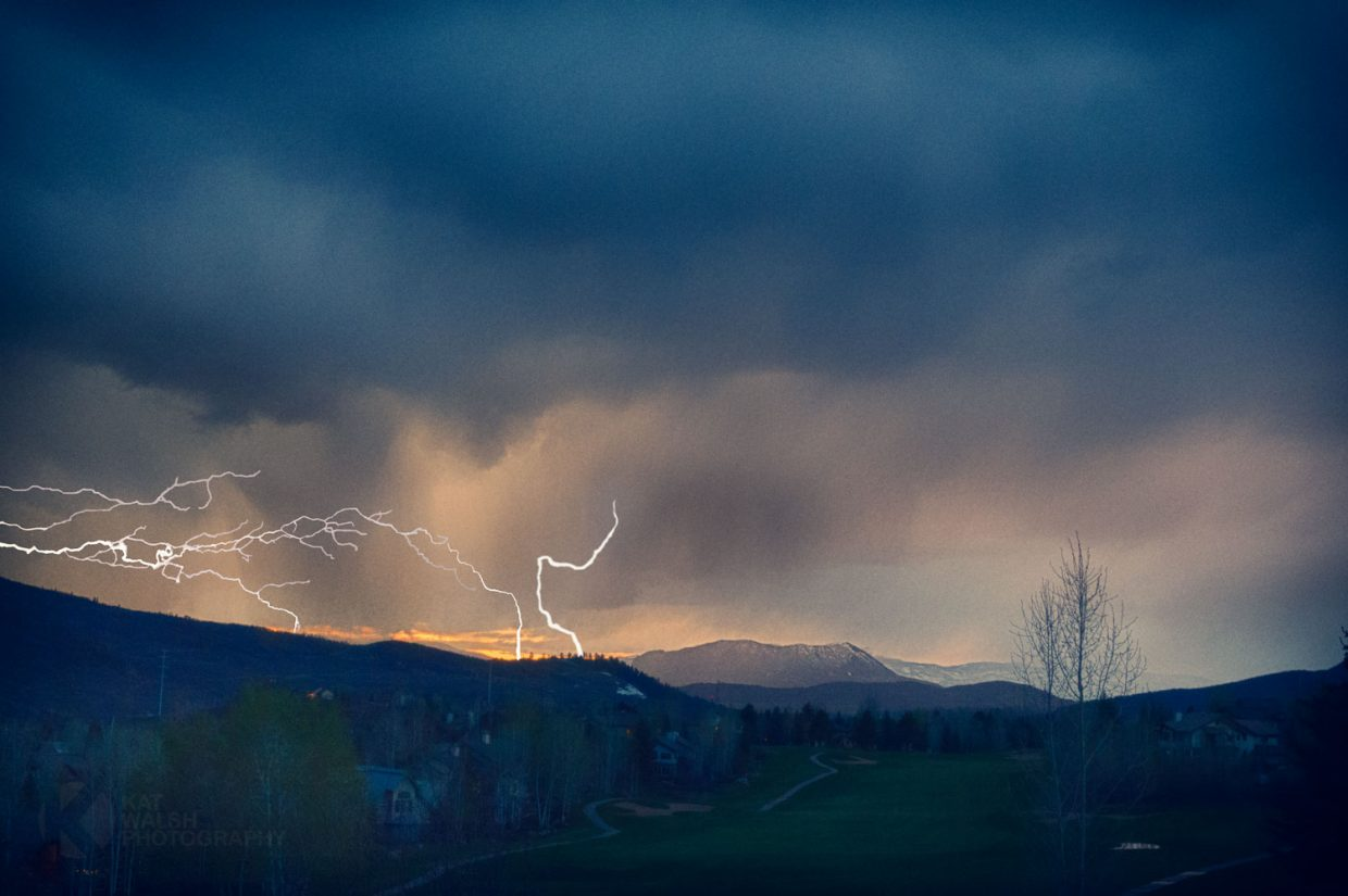 Lightning over Sleeping Giant. Submitted by Kathleen Walsh.