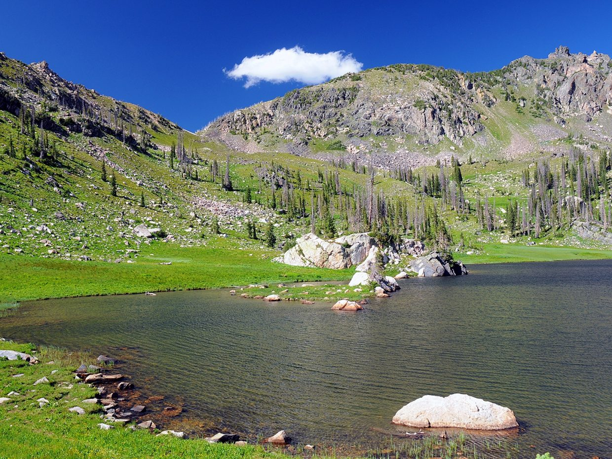 Mica Lake, Mt. Zirkel Winderness. Submitted by Jeff Hall.