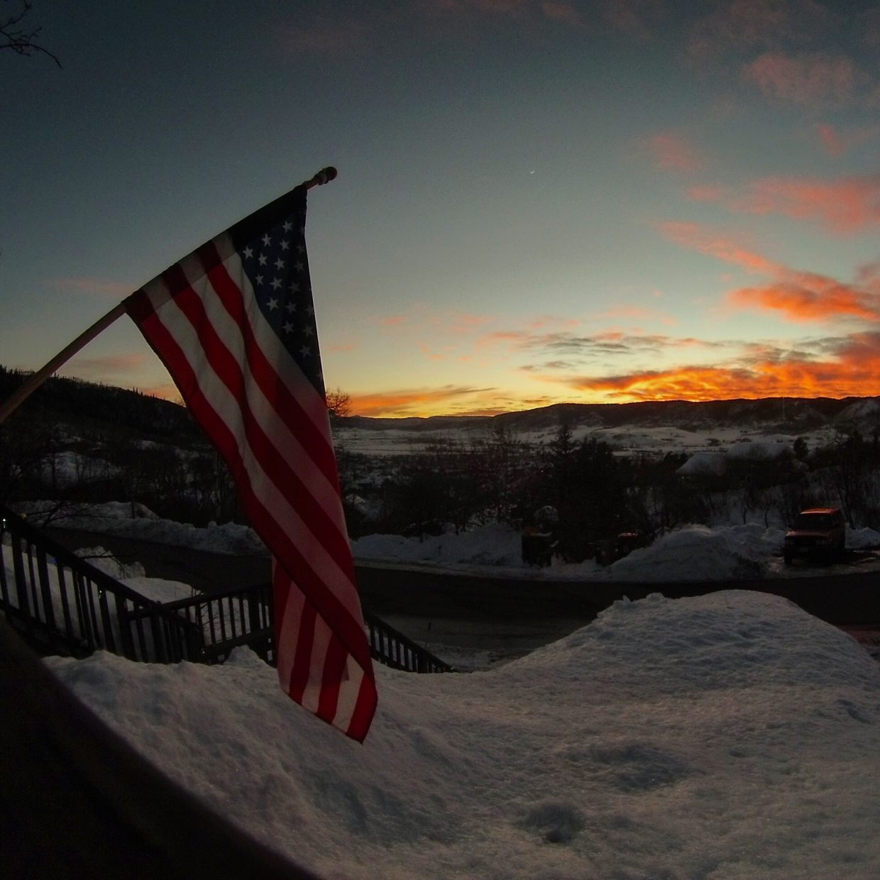 Sunset looking South from Steamboat Springs. Submitted by Michael Green.