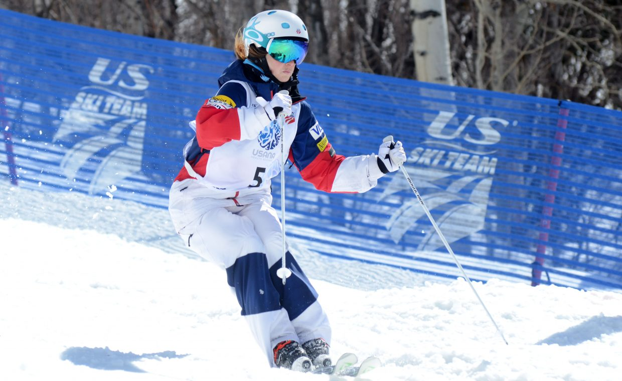 Telluride's Keaton McCargo finished third in Friday's U.S. Freestyle Championships women's moguls finals.
