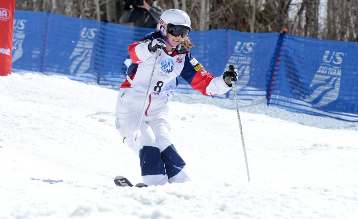 Steamboat Springs Winter Sports Club's Lane Stoltzner finished seventh in Friday's U.S. Freestyle Championships women's moguls finals.