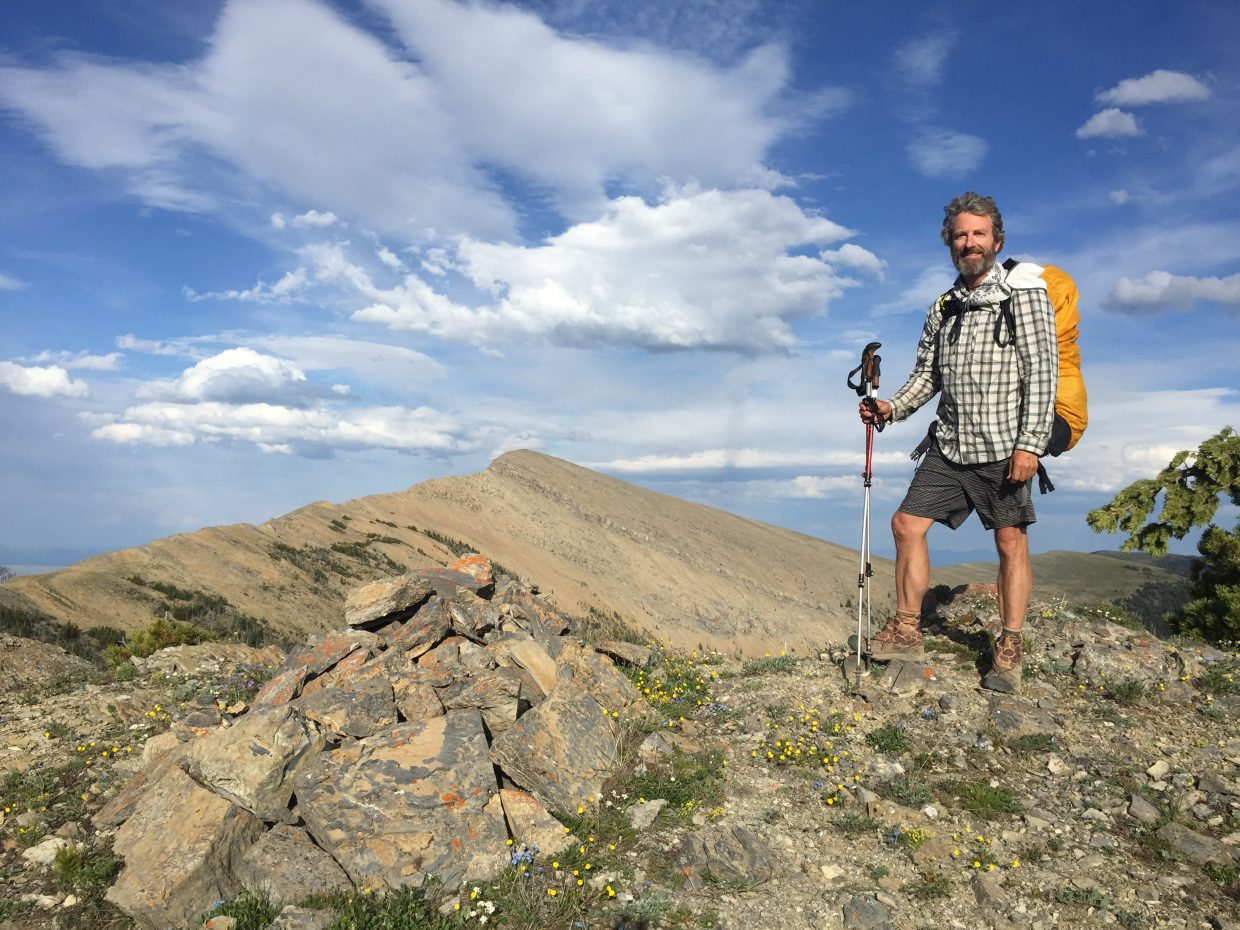Ed Miesen hikes along the Continental Divide Trail on his quest to hike all 3,100 miles