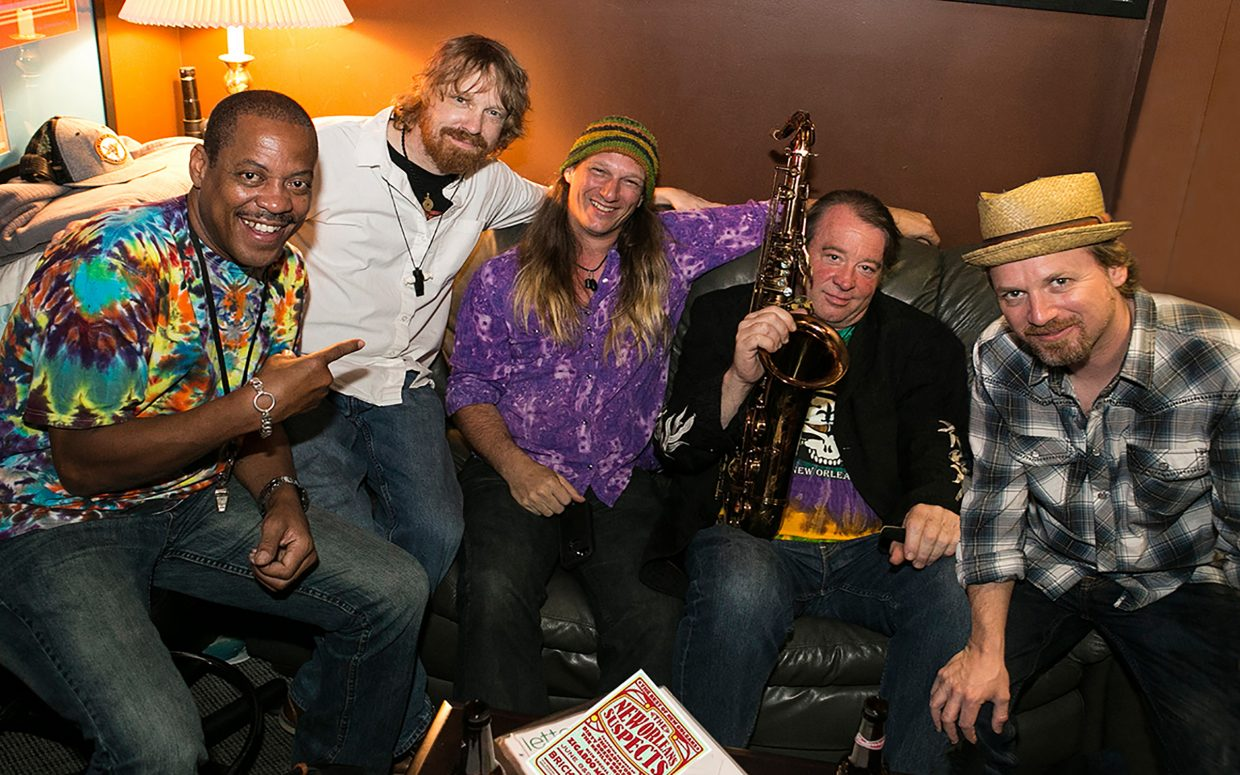 """The New Orleans Suspects will bring their """"dance party"""" sound to Old Town Pub and Restaurant Saturday night."""