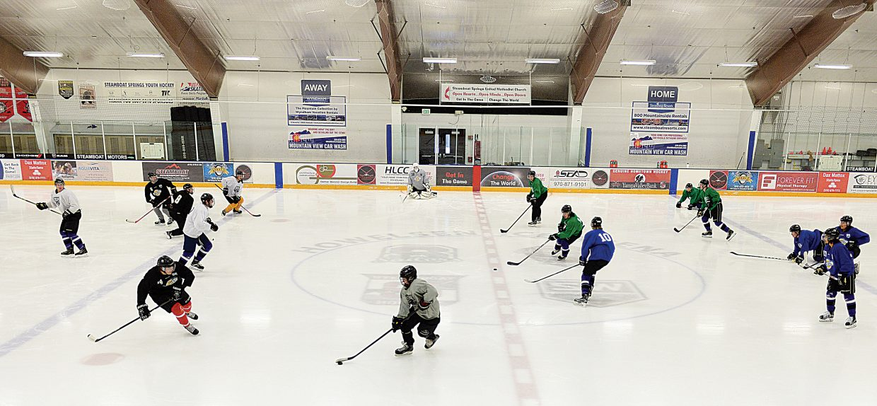 The Wranglers Junior Hockey Team has been a welcome addition to the group of users at Howelsen Hill Ice Area this winter. The Wranglers purchase non-primetime ice for practices, but the group does purchase some primetime ice for home games, which adds to the pressure of scheduling games on Friday and Saturday evenings.