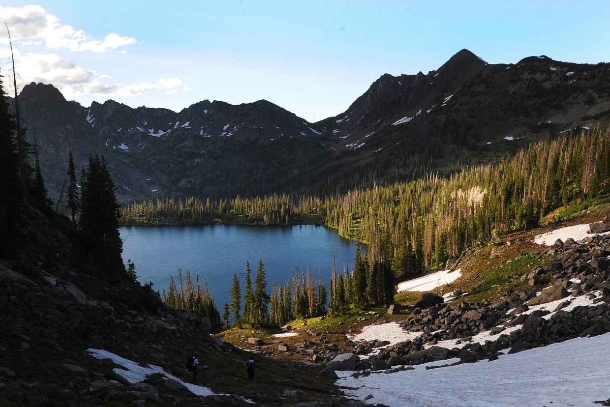 Time your hike right, and you could also descend into Gilpin Lake at magic hour.