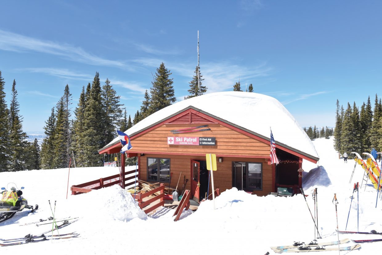 Steamboat Springs Ski Area's ski patrol shack.
