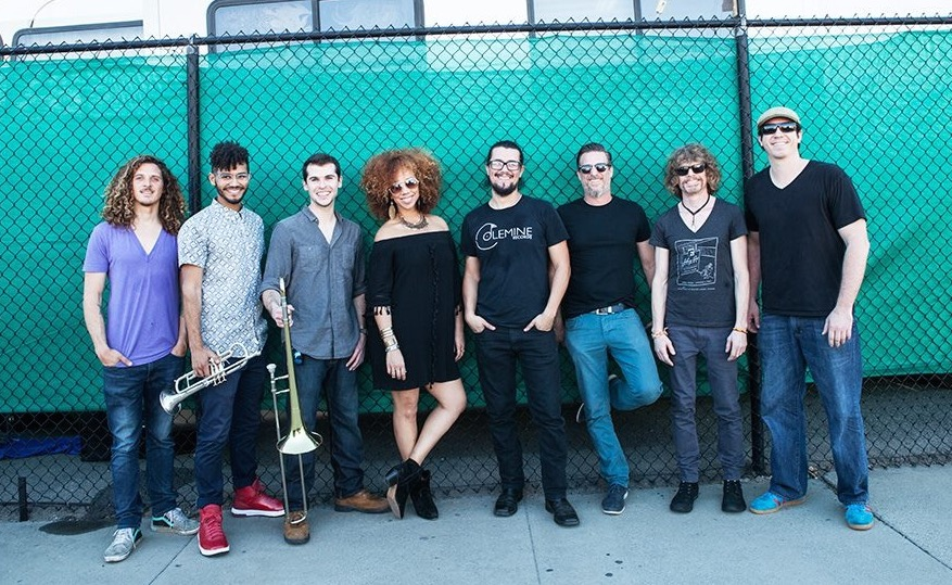 The California-based eight piece, Orgone will headline the Old Town Pub at 10 p.m. on Friday. In this photo members include Sam Halterman on drums, J.J. Kirkpatrick on trumpet, Ricky Lucchese on trombone, Adryon De León on vocals, Sergio Rios on guitar, Dan Hastie on keys, Dale Jennings on bass and Will Phillips on percussion.