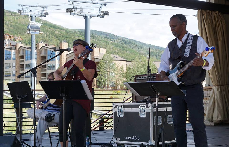 A free concert by the Six Million Dollar Band kicked off the Steamboat Wine Festival in Gondola Square.