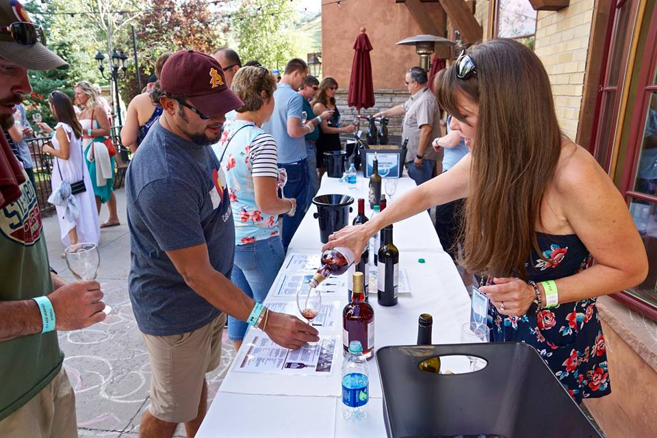 Tastings were a big part of the Steamboat Wine Festival