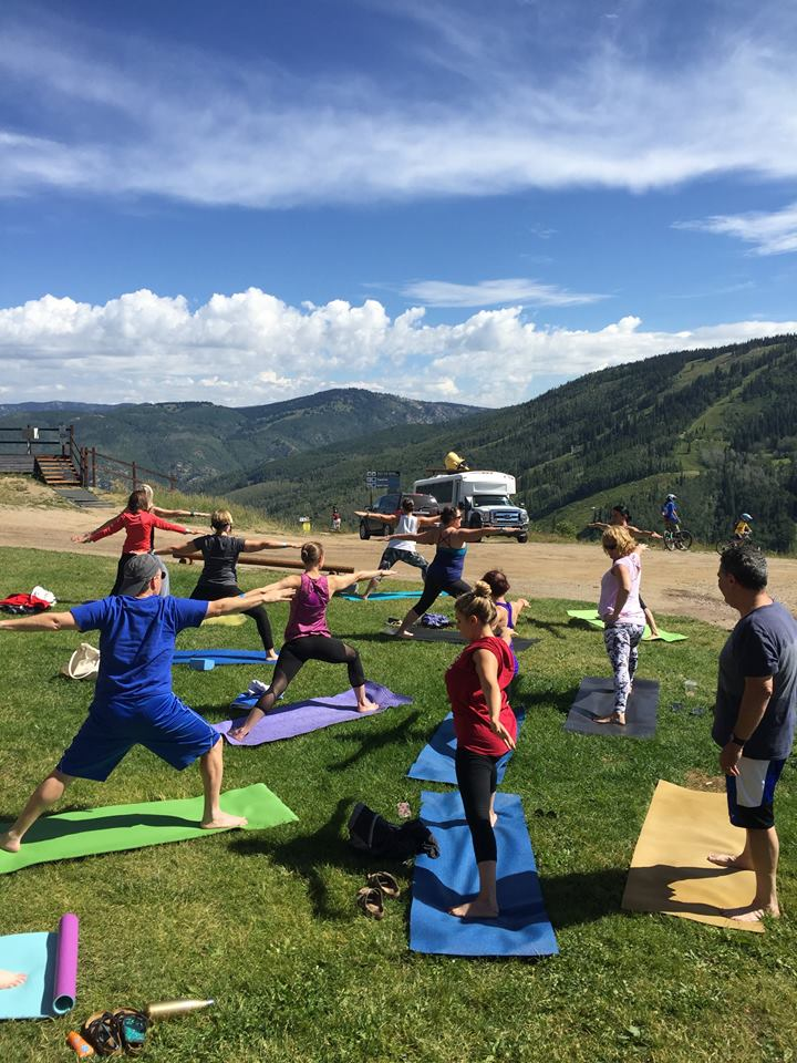 Steamboat Wine Festival hosted Yoga at the Top of the Gondola.