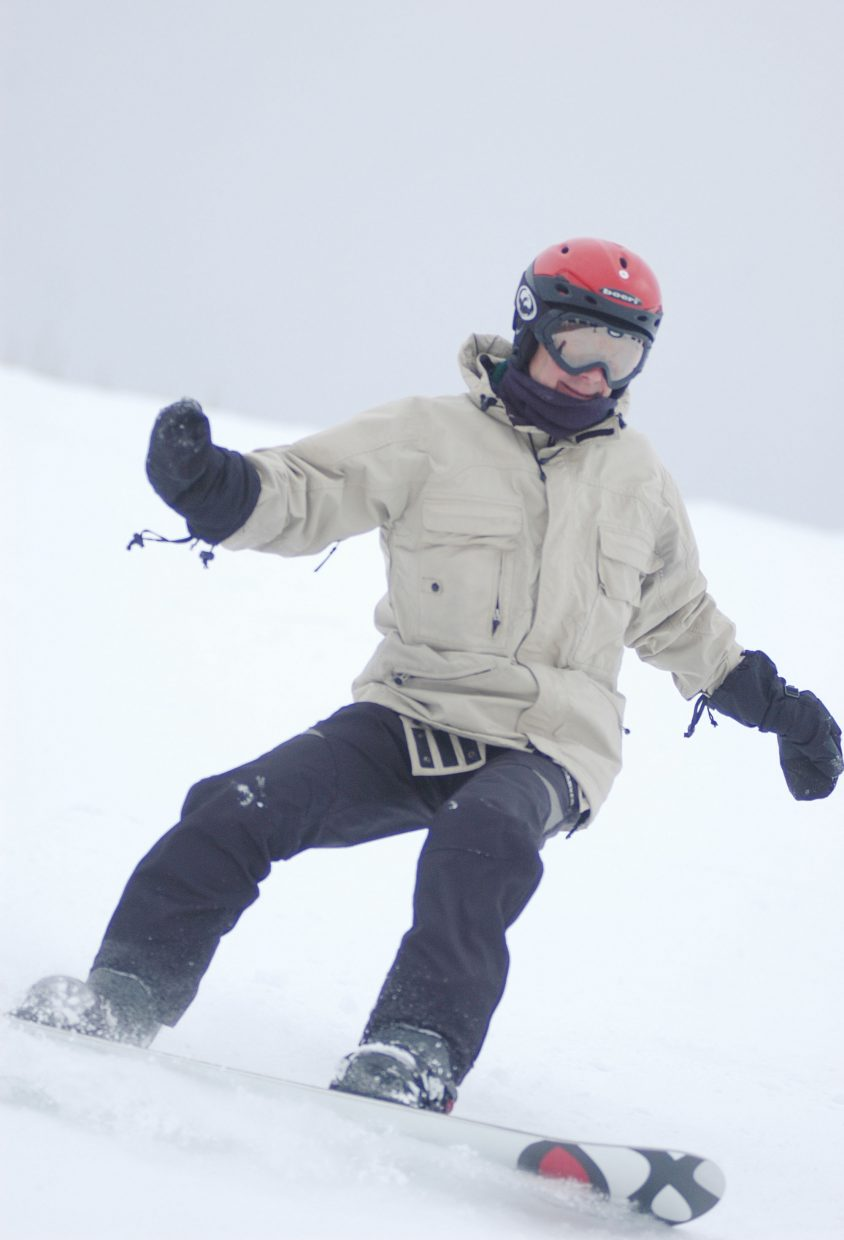 Harold Fischel rides down Heavenly Daze on Friday at the Steamboat Ski Area.
