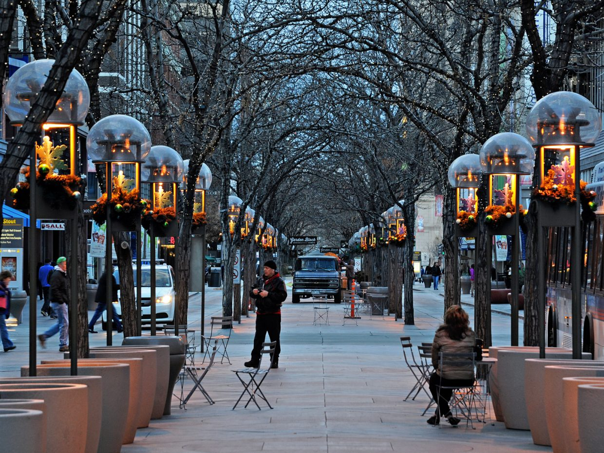 16th Street Mall in Denver. Submitted by: Jeff Hall
