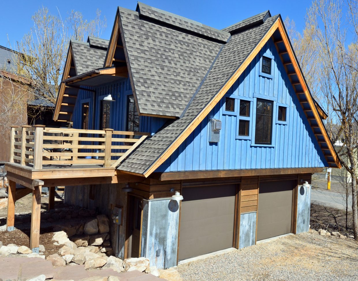New Mountain Builders owner Scott Kemp built this 650-square-foot apartment and the garage it sits on in the Fairview neighborhood of Steamboat Springs, and lives inside with his wife, two young sons and a labrador retriever.