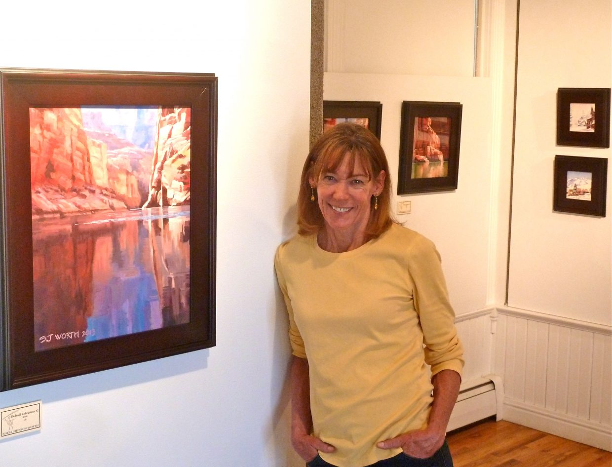 Artist Sheri Johnson Worth will show her paintings, which draw on inspiration from her trips to the Grand Canyon, at this month's First Friday Artwalk at the Depot Art Center.