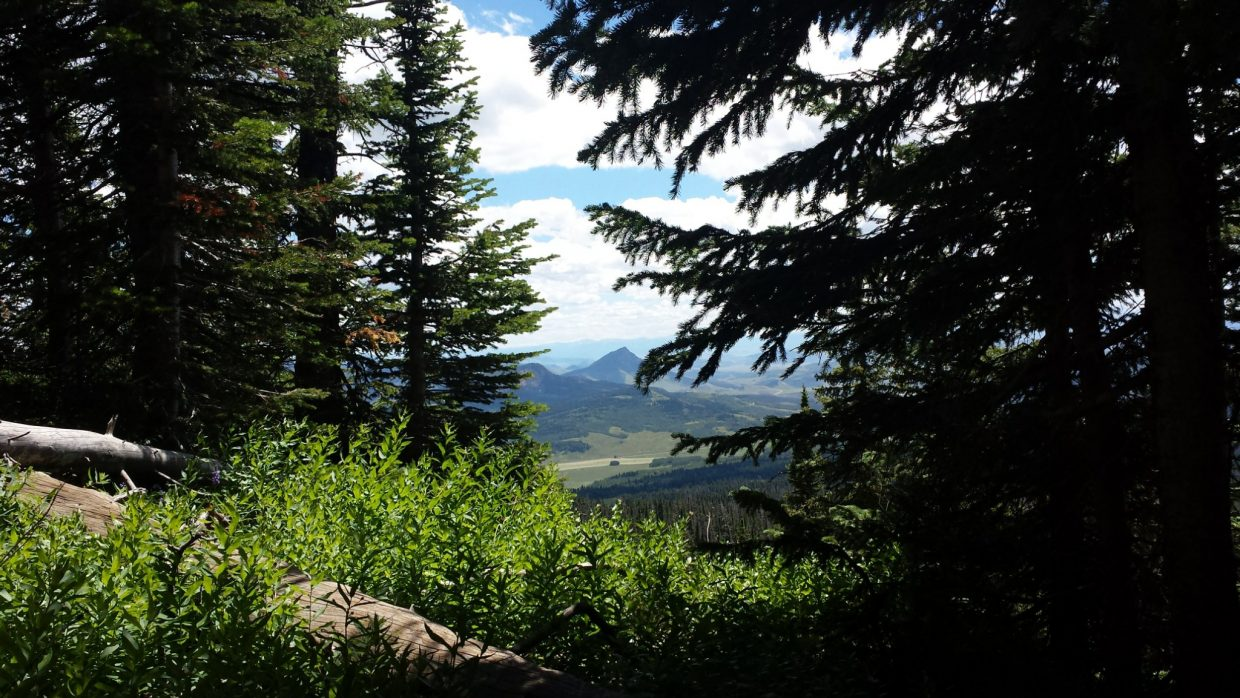 Spectacular views from top of Rabbit Ears Peak. Submitted by Pam Young. — in Steamboat Springs, Colorado.