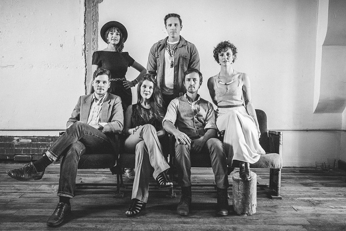 Colorado band Paper Bird comprises sisters Genny and Esme Patterson (both vocals), brother and sister Mark (drums) and Sarah Anderson (vocals and cornet/trumpet), Paul DeHaven (guitar) and Caleb Summeril (bass, banjo and guitar).