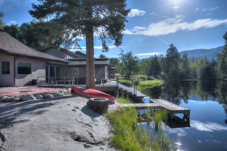 A private dock and deck that drops into the water are some of the many highlights of an Anglers Drive home available to tour as part of this Saturday's Parade of Homes.