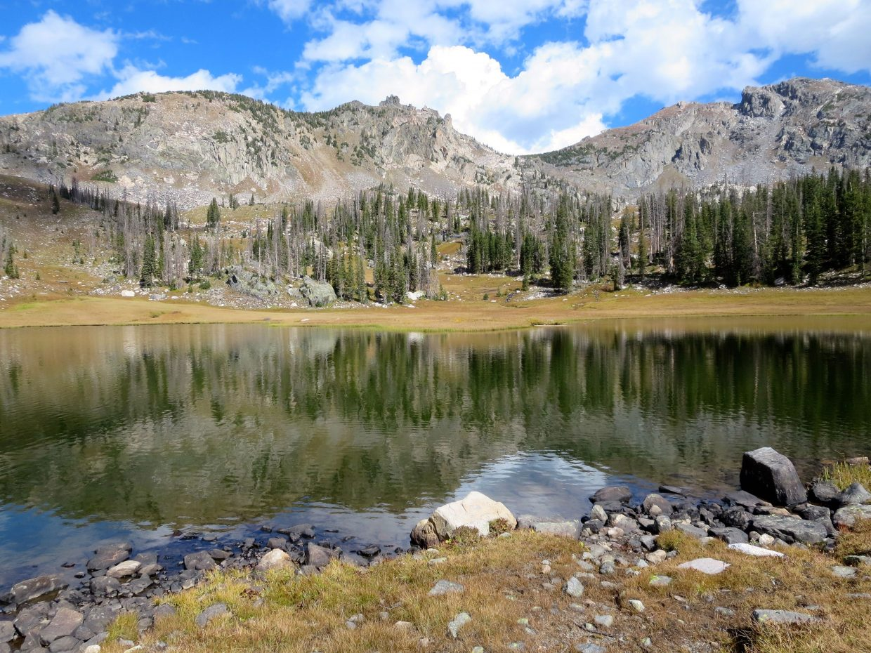 Mica Lake in early autumn offers opportunities for wilderness solitude.