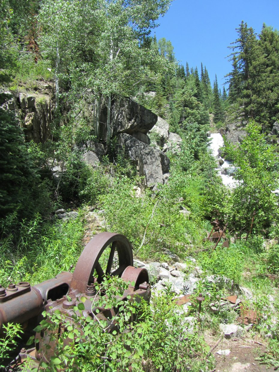 A hydropower plant was used for placer mining near the Gilpin Mine.