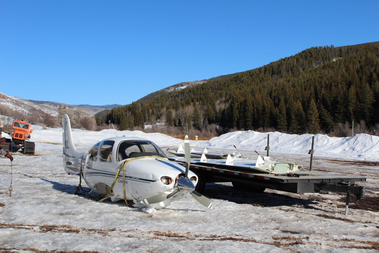 """The White River National Forest carefully planned the extraction of a small aircraft that was forced to the ground in the Flat Tops."""