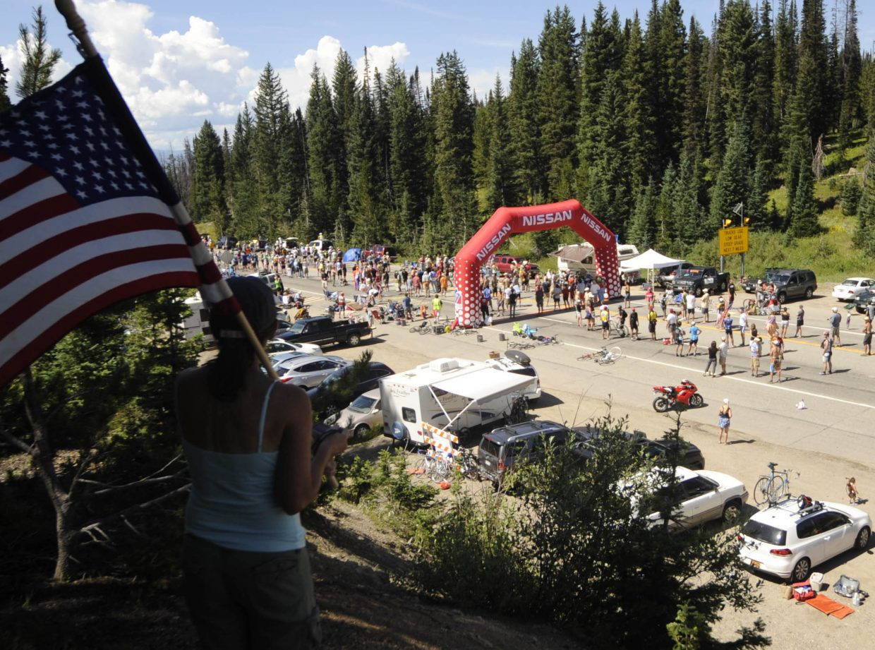 Hundreds of fans will likely gather on the top of Rabbit Ears Pass.