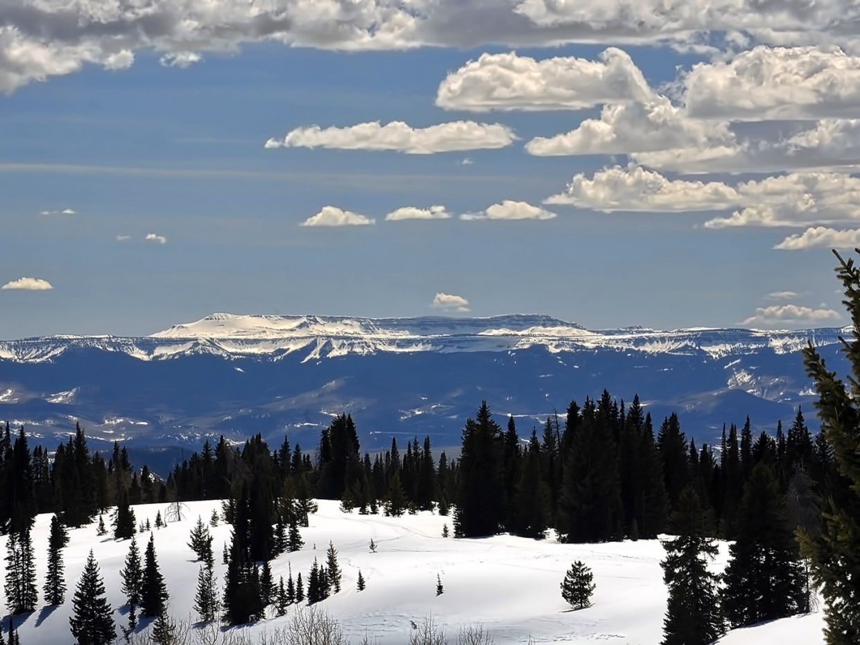 Flat Tops Wilderness from Rabbit Ears Pass. Submitted by Jeff Hall.