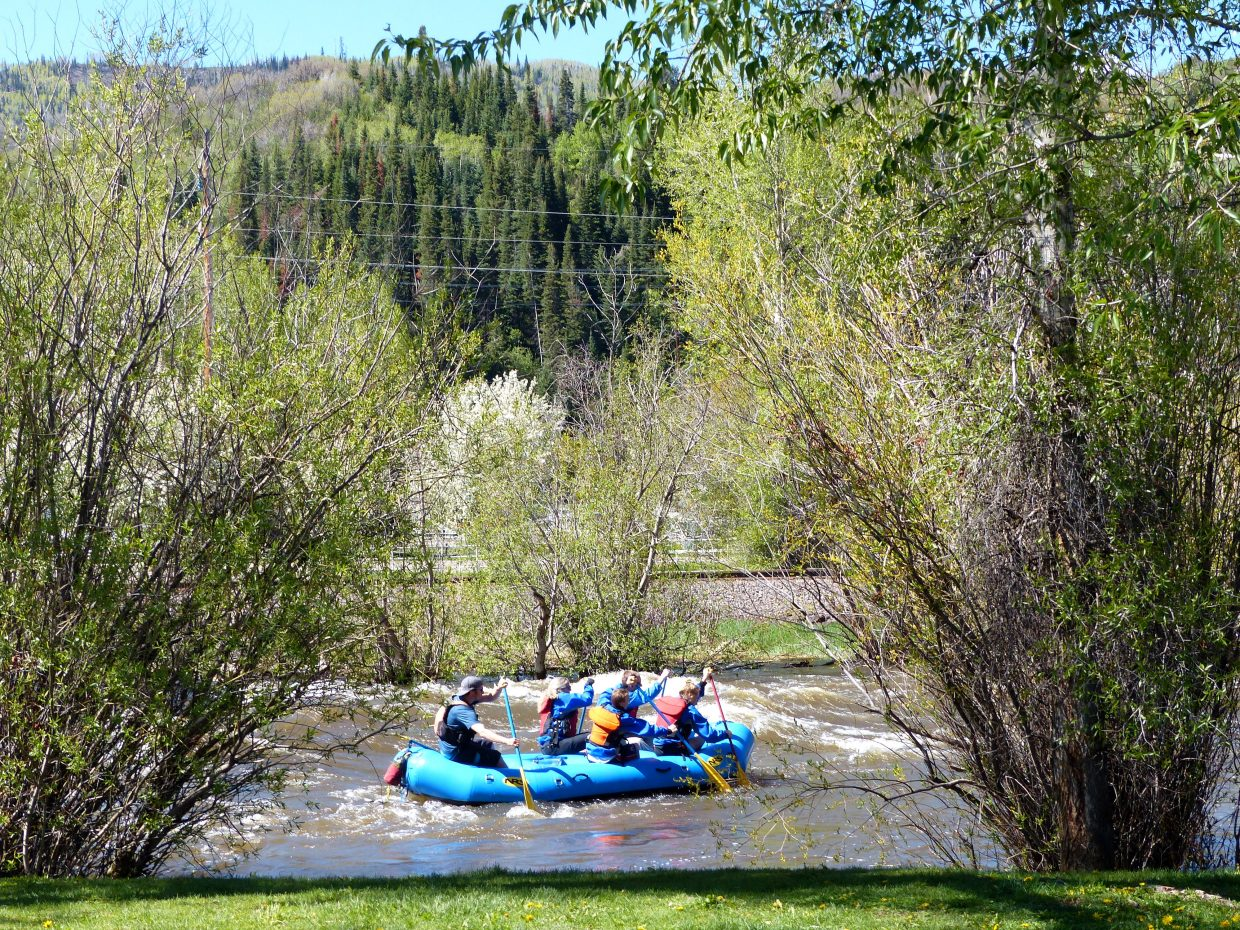 Rafters on the Yampa River on Monday. Submitted by: Shannon Lukens