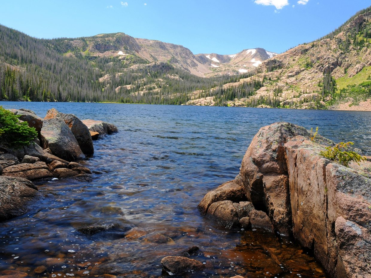 Rainbow Lake in the Mount Zirkel Wilderness Area. Submitted by: Jeff Hall