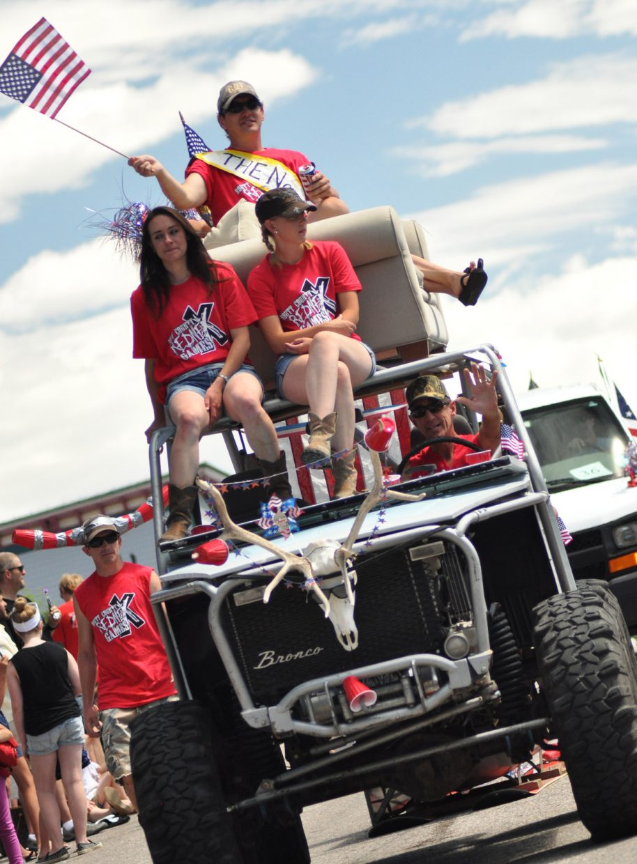 The RedneX float at the Steamboat Springs Fourth of July parade, promoting the RedneX Games, July 12 at the Routt County Fairgrounds in Hayden. Submitted by: Wendy Lind