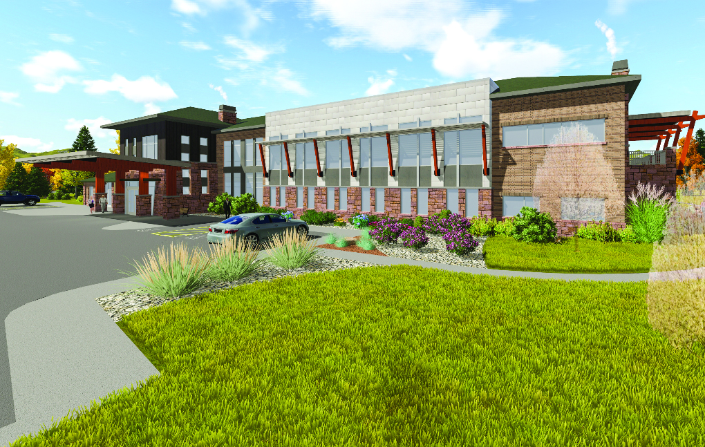 This 3D rendering by Boulder Associates architects shows how a new Outpatient Pavilion on the Yampa Valley Medical Center will look.