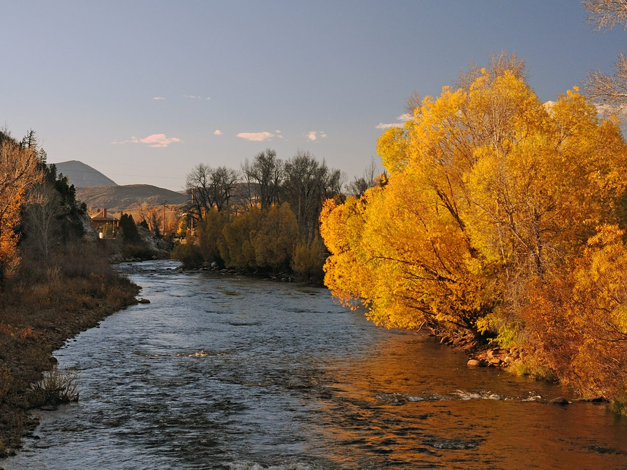 Fall colors along the Yampa River. Submitted by: Jeff Hall