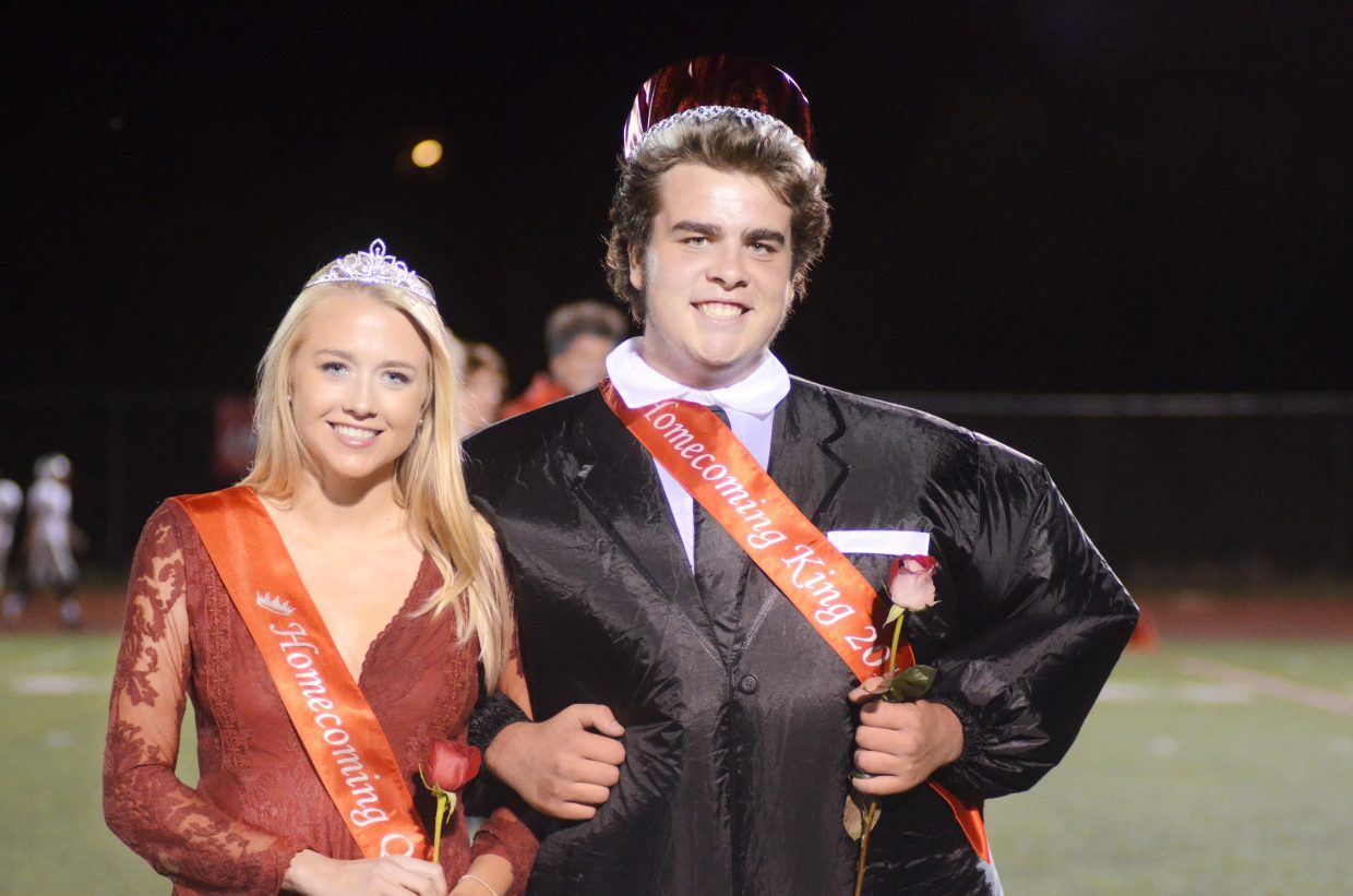 Steamboat Springs High School students Serina Kidd and Garrett Denney were named homecoming king and queen Friday night during the Sailors' football game against Grand Junction Central.