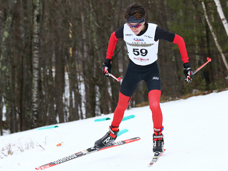 Steamboat Springs Winter Sports Club Nordic skier Wyatt Gebhardt races his way to third place in the U18 division 10-kilometer freestyle race at the USSA Cross Country Junior Nationals in Cable, Wisconsin, last week.