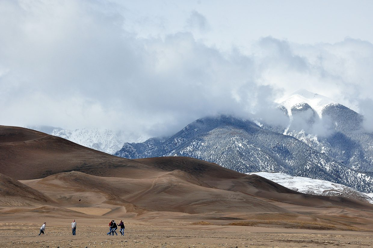 This picture captures the majesty of Colorado's Great Sand Dunes National Park.
