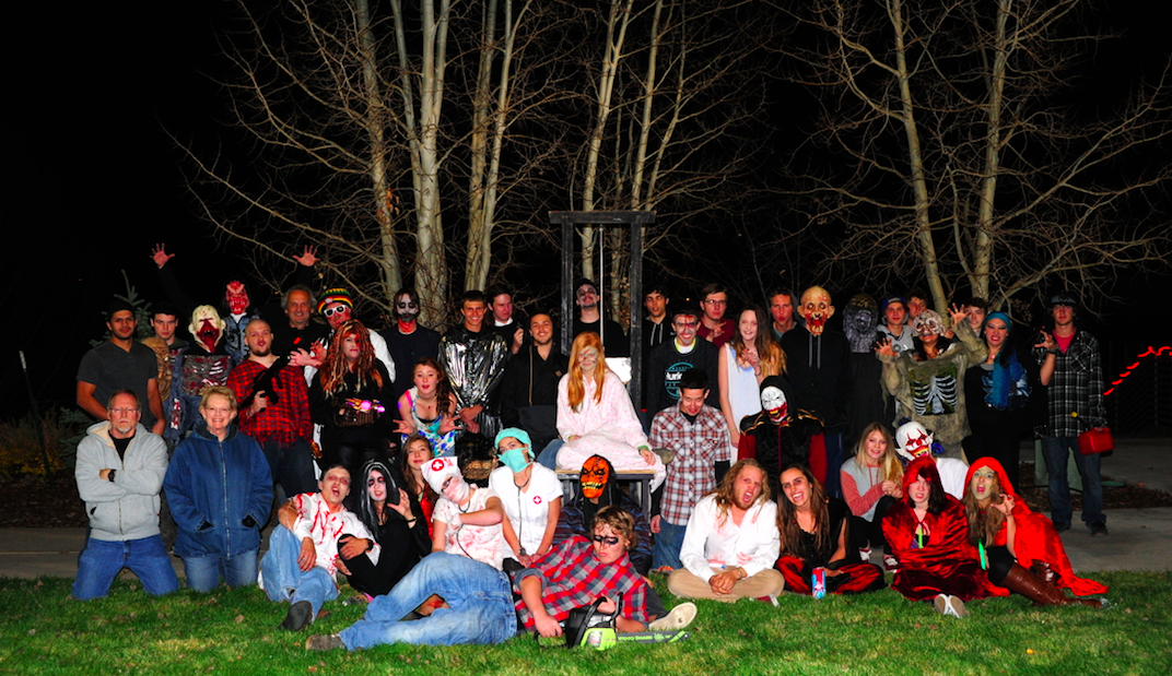 """The cast of Screamboat from Colorado Mountain College's Sky Club members. They will be hosting """"X-Screamboat"""" (Extreme Screamboat) from 6 to 10 p.m. Thursday with a $15 general admission and again Friday for Halloween."""