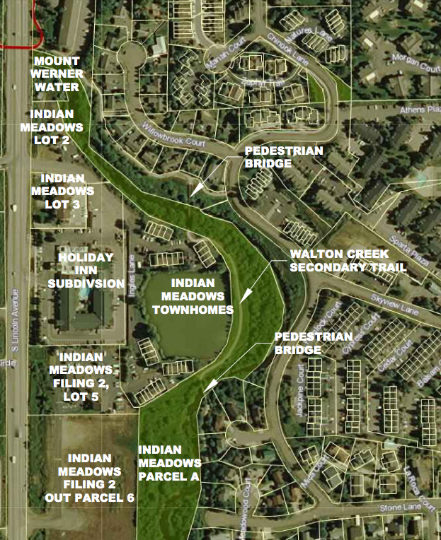The city is trying to figure out how to best connect three hotels in the southern portion of the city to the Yampa River Core Trail and other sidewalks.