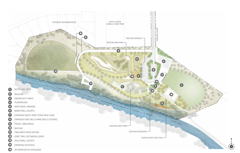 The draft master plan for Bear River Park calls for volleyball and basketball courts and an expansion of the existing skate and bike parks.