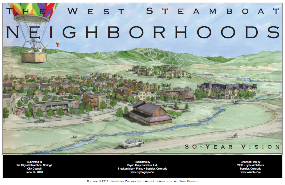 A rendering from Brynn Grey shows a potential residential development in west Steamboat Springs.
