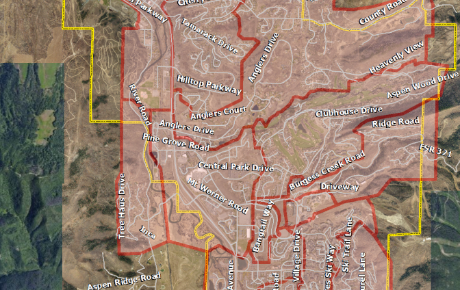 A map shows areas of the city that will experience Comcast outages in the early morning hours of Nov. 29 and Nov. 30. The service is going out because crews on Yampa Street need to do a cutover of cables.