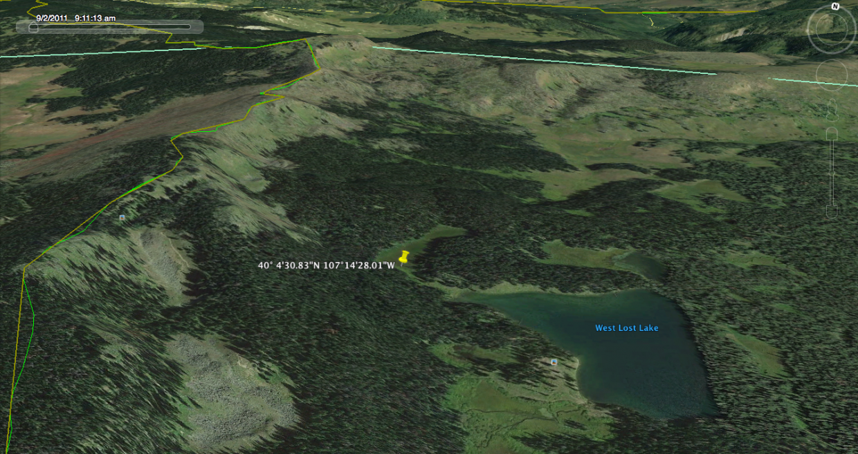 A Google Maps image shows the location of Tuesday's avalanche.
