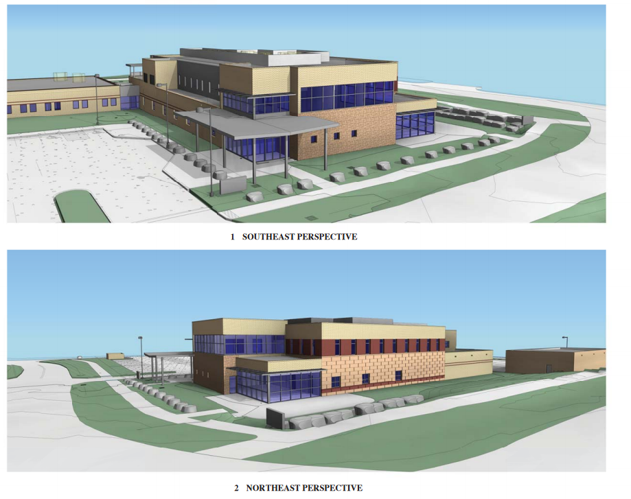 Conceptual drawings show the design for a shared law enforcement facility in west Steamboat Springs next to the Routt County Jail.