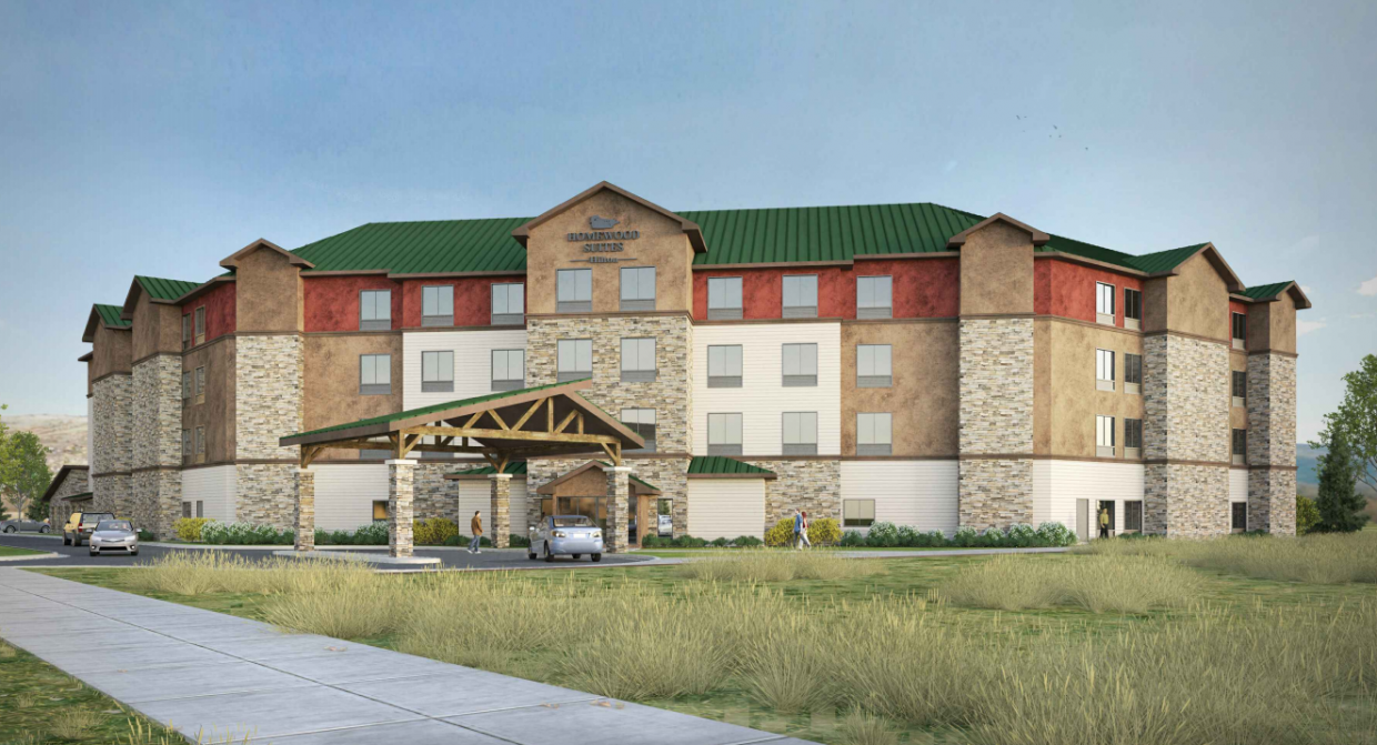 A rendering shows what the proposed Homewood Suites by Hilton in Steamboat Springs would look like on U.S. Highway 40.