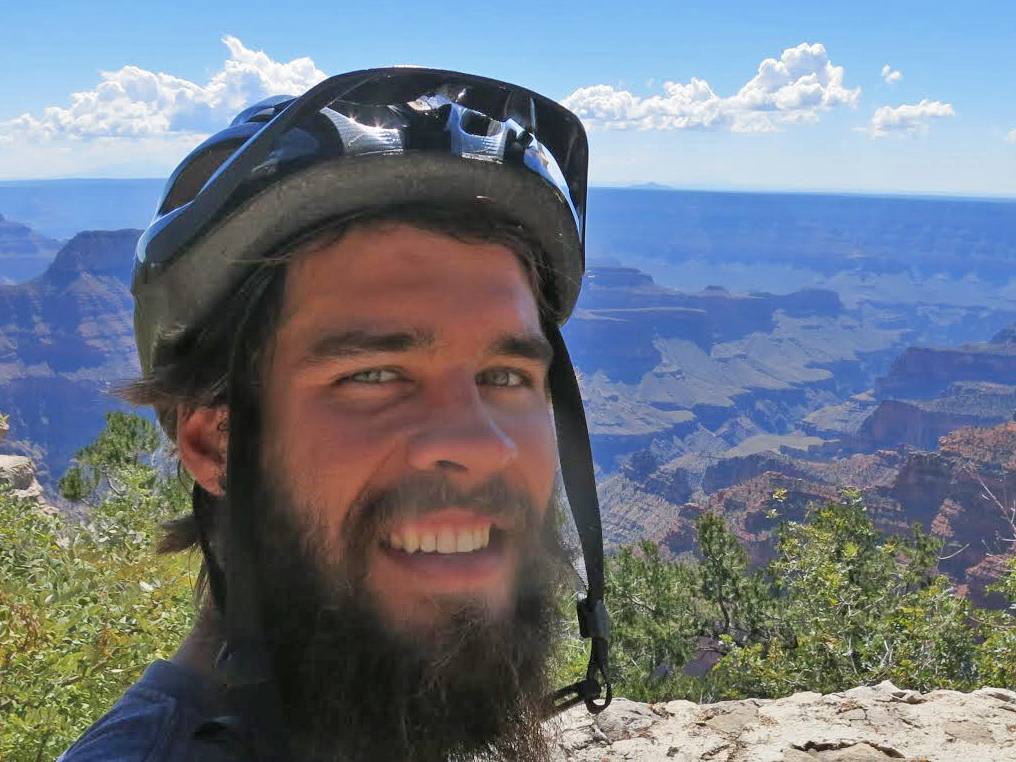 Steamboat Springs resident Sergio Ryan stops for a picture during his 2,200-mile solo bike ride this fall, which took him to the Grand Canyon and back.